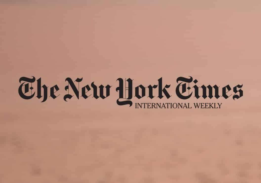 New York Times, January, 2016 (print February, 2016)